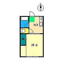 シティハイムAMITIE[1階]の間取り