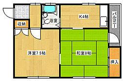 兵庫県神戸市東灘区岡本5丁目の賃貸マンションの間取り