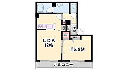 JR姫新線 余部駅 徒歩11分の賃貸アパート 2階1LDKの間取り