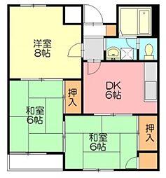 サンシャインハウス湘南台[203号室]の間取り