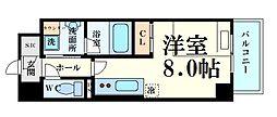 Osaka Metro長堀鶴見緑地線 西長堀駅 徒歩3分の賃貸マンション 2階1Kの間取り