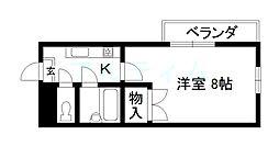 京都府京都市東山区下堀詰町の賃貸マンションの間取り