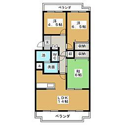THE ROOTS[3階]の間取り