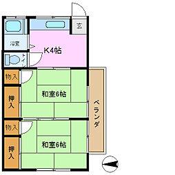 第1しおや荘[2階]の間取り