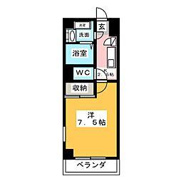 サンセール愛子[4階]の間取り