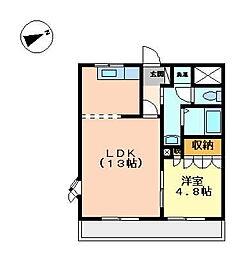 LEGACY GARDEN 参番館[2階]の間取り