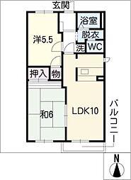 ベル・カーサ[2階]の間取り