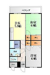 ニューライズマンション[401号室]の間取り