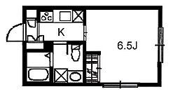 神奈川県川崎市多摩区三田1丁目の賃貸アパートの間取り