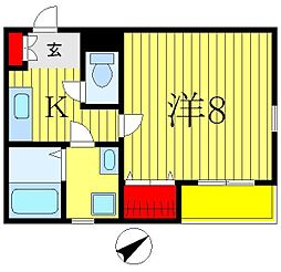 プチメゾン八柱[101号室]の間取り