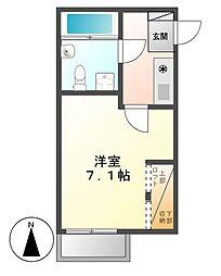 愛知県名古屋市千種区今池4丁目の賃貸アパートの間取り