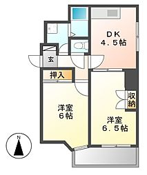 レジデンシア東別院(第7協和ビル)[11階]の間取り
