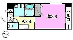 メゾンドール錦町2 3階1Kの間取り