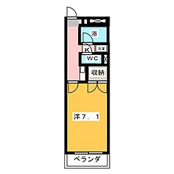 ユースハイム八剣[3階]の間取り