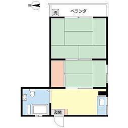 東京都大田区南馬込3丁目の賃貸マンションの間取り