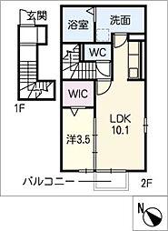 仮)D−room小牧市舟津[2階]の間取り