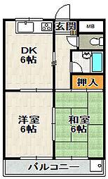 プティセジュール[2階]の間取り