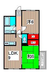 ベルエポックIII[2階]の間取り
