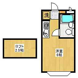 セゾンフローラA[103号室]の間取り