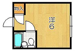 かしはら若竹荘[3階]の間取り