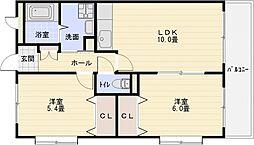 プリュクレール[3階]の間取り