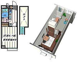 千葉県松戸市和名ヶ谷の賃貸アパートの間取り
