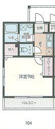 JR内房線 本千葉駅 徒歩10分の賃貸アパート 1階1Kの間取り