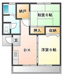 KamikenAP[2階]の間取り