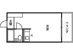 ふぁみーゆ安井[7階]の間取り