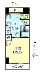 フロレゾン金池[5階]の間取り