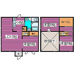 [タウンハウス] 北海道札幌市東区北三十七条東29丁目 の賃貸【/】の間取り