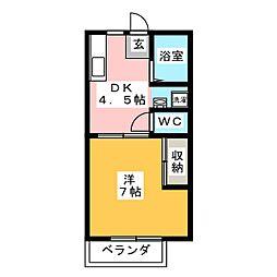 イーストヒルズ松井[2階]の間取り