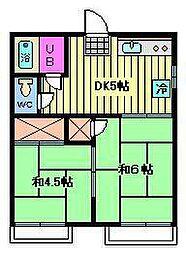 信州荘[2階]の間取り