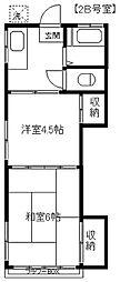 泉住宅[2B号室]の間取り