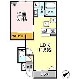 (仮称)D-room松江市学園南2丁目[101号室]の間取り