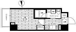 都営大江戸線 新御徒町駅 徒歩6分の賃貸マンション 7階1Kの間取り