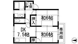 ファミール仁川2[1階]の間取り