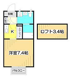 セレステみずほ台[2階]の間取り