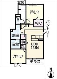 常若荘[1階]の間取り