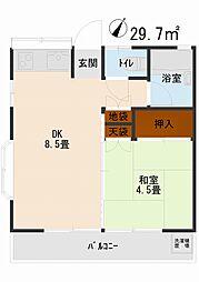 第II東栄コーポ[101号室]の間取り