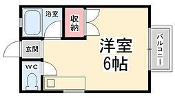 西田レジデンスA棟[201号室]の間取り