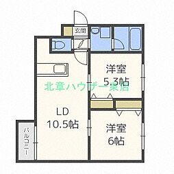 北海道札幌市東区北二十五条東10の賃貸マンションの間取り
