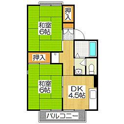 セジュール北山(紫竹)[102号室]の間取り