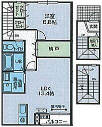 エムズファースト[3階]の間取り