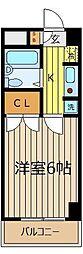 埼玉県和光市丸山台1丁目の賃貸アパートの間取り