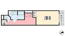 MISTRAL飾磨駅前[502号室]の間取り