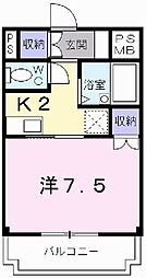 兵庫県姫路市飾磨区清水1丁目の賃貸マンションの間取り