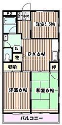 東京都板橋区新河岸3丁目の賃貸マンションの間取り