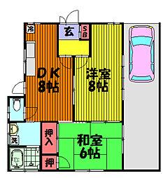 吉田荘[1階号室]の間取り