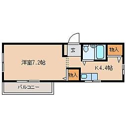 兵庫県尼崎市昭和通1丁目の賃貸マンションの間取り
